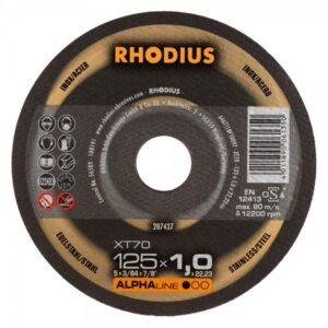 RHODIUS XT70 Extradünne Trennscheibe 125 x 1,0 x 22,23mm