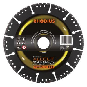 RHODIUS DG210 ALLCUT Diamanttrennscheibe 150 x 3,0 x 2,5 x 22,23mm