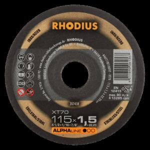 RHODIUS XT70 Extradünne Trennscheibe 115 x 1,5 x 22,23mm