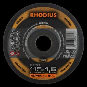RHODIUS XT70 Extradünne Trennscheibe 115 x 1,0 x 22,23mm
