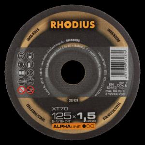 RHODIUS XT70 Extradünne Trennscheibe 125 x 1,5 x 22,23mm