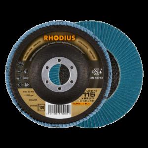 RHODIUS LGZ F3 Fächerschleifscheibe 115 x 22,23mm K120