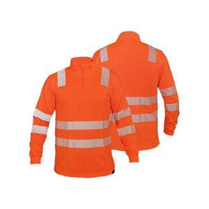Warnschutz-Funktions-Langarmshirt aus Polytex, EN ISO 20471, GipfelStürmer 019