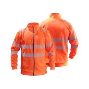 Warnschutz-Sweatjacke mit seitlichen Einschubtaschen, GipfelStürmer No. 020