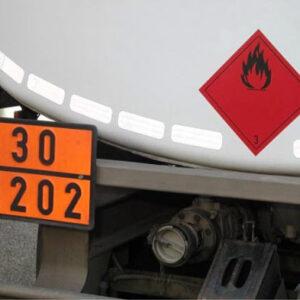Warnmarkierung Reflexite für Tankfahrzeuge gemäss ECE 104