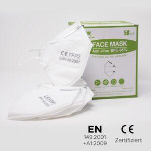 Premium Atemschutzmaske KN95 (FFP2) 50Stk.