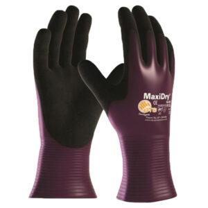 Handschuhe MaxiDry lila/schwarz