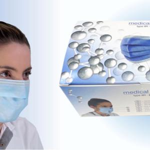Medizin- Chirurgenmaske TYP IIR (EN 14683) (50 Stück)