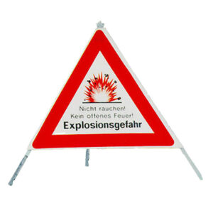 Signal-Pyramide Explosionsgefahr reflektierend