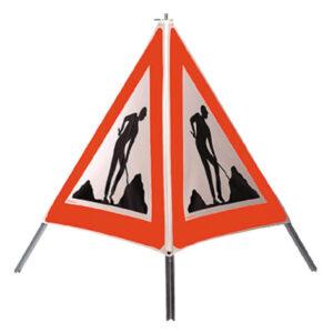 Signal-Pyramide Arbeiter Typ 90 reflektierend R2