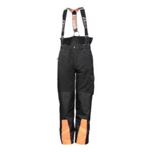 Stretch-Bundhose schwarz, mit Schnittschutz, Prevent