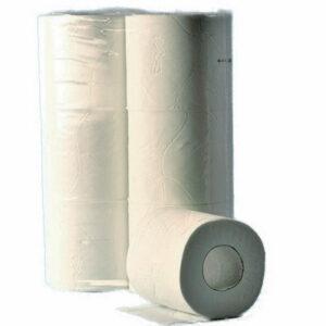 Toilettenpapier 3-lagig Zellstoff weiss 300 Cps. 9.8×11.5cm, 60 Rollen