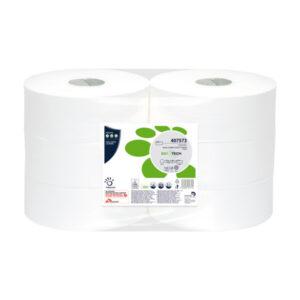 WC Papier Jumbo BioTech 2-lagig Zellstoff 30,5 x 9,5 cm, 6 Rollen